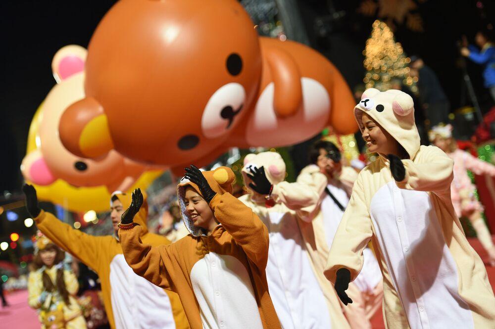 85º desfile natalino anual de Hollywood em Los Angeles