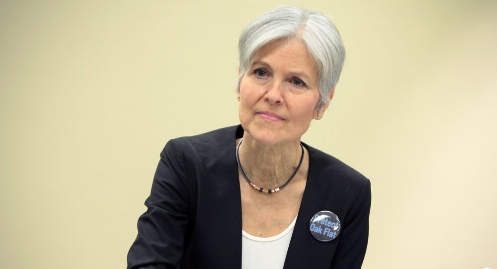 Jill Stein speaking at the Green Party Presidential Candidate Town Hall hosted by the Green Party of Arizona at the Mesa Public Library in Mesa, Arizona. (File)