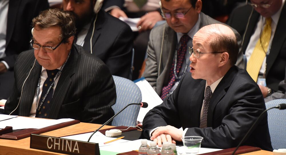 Liu Jieyi, representante da China nas Nações Unidas, durante uma reunião do CS da ONU sobre a Síria em julho de 2014
