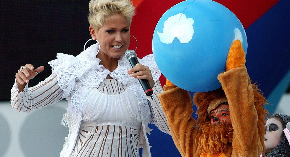 Xuxa, a Rainha dos Baixinhos, hoje apresenta o programa Xuxa Meneghel, na Rede Record