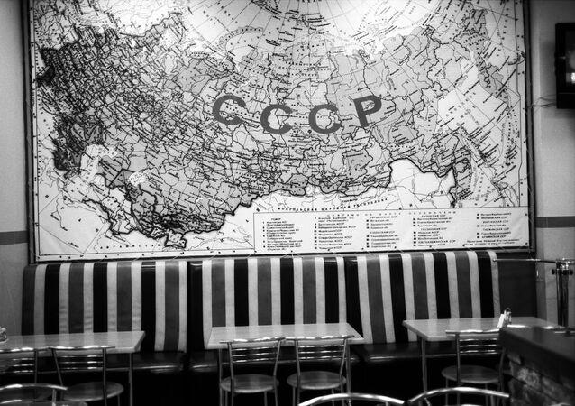 Mapa da União Soviética