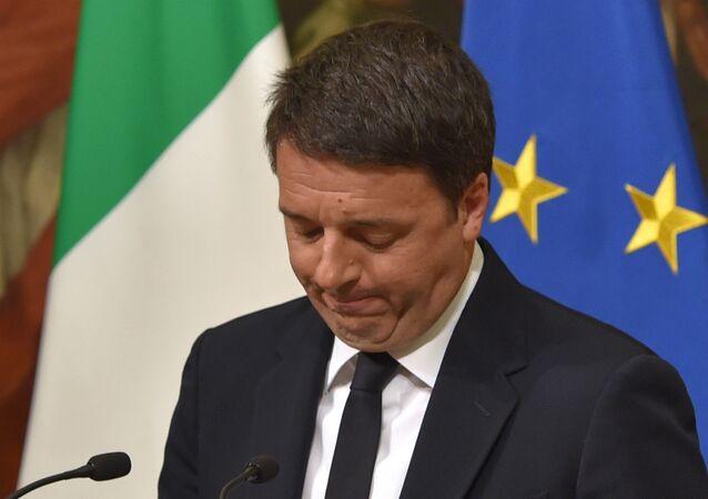 Matteo Renzi, atual primeiro-ministro da Itália, deverá deixar o cargo no próximo dia 19