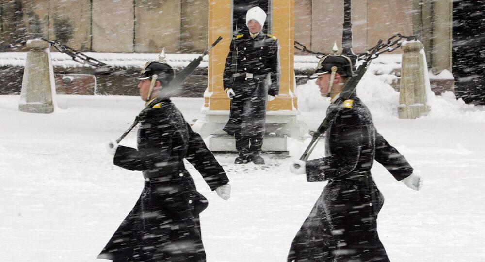Soldados da guarda real da Suécia