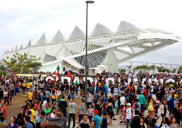 O Boulevard Olímpico na Zona Portuária do Rio foi um dos espaços mais procurados pelos turistas na Rio 2016