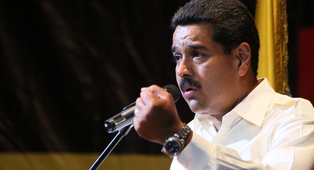 Nicolás Maduro, presidente venezuelano, em uma noite de homenagem a Hugo Chávez em Moscou, no jardim Ermitage