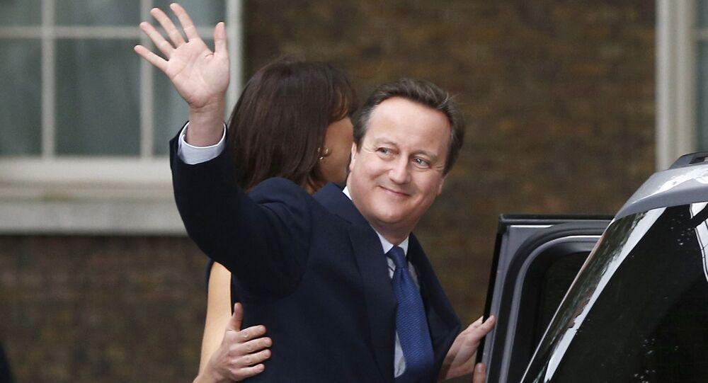Ex-premiê britânico, David Cameron no seu último dia como chege do governo, em 13 de julho de 2016