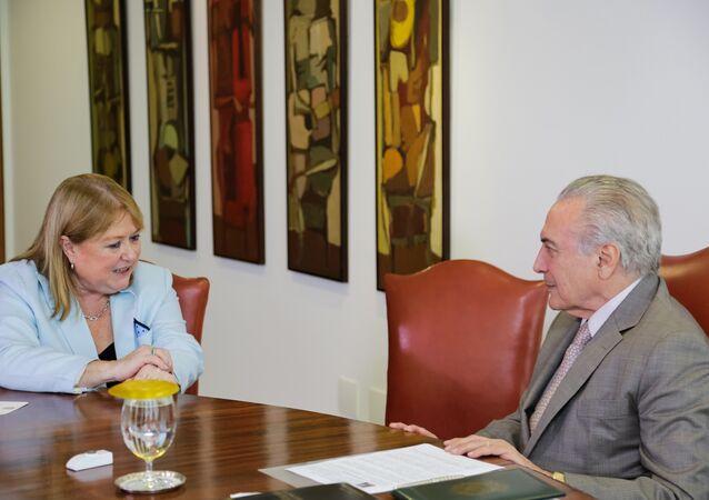 Presidente Michel Temer com a Chanceler da Argentina Susana Malcorra