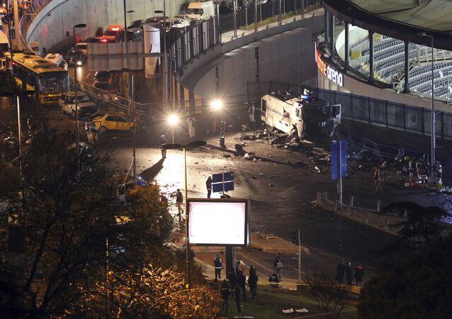 Local de uma das explosões que sacudiram Istambul neste sábado, matando ao menos 29 pessoas e deixando mais de 160 feridos