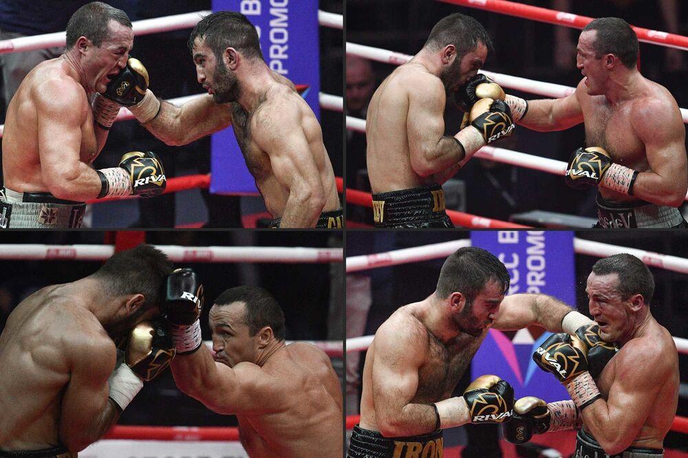 Boxeadores russos competem pelo título de Campeão Mundial de Boxe da IBF