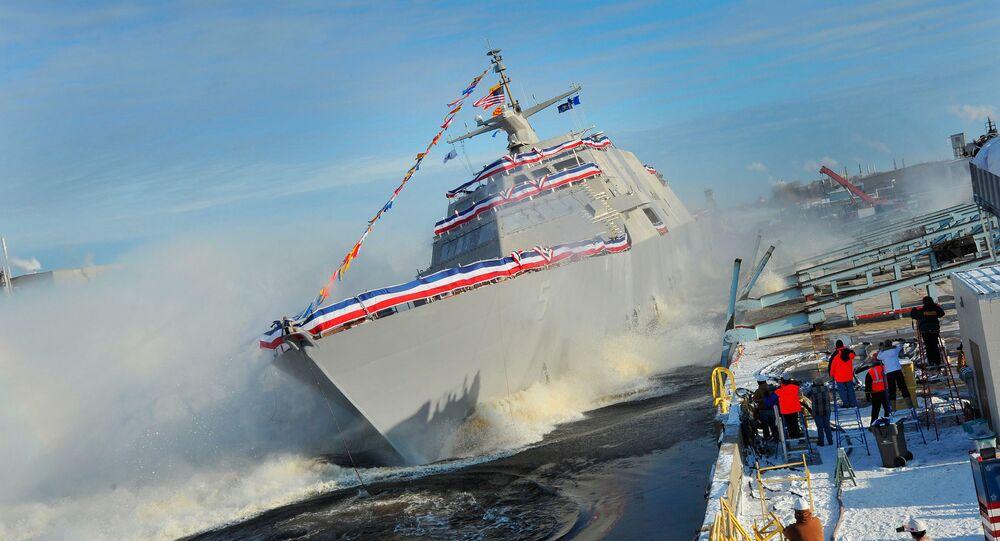 O navio USS Milwaukee