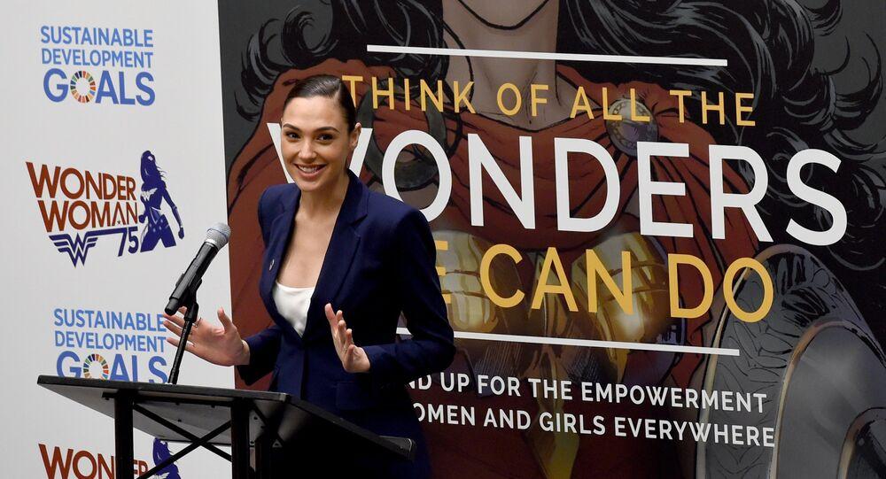 A atriz israelense Gal Gadot durante a cerimônia de nomeação da Mulher-Maravilha como Embaixadora Honorária da ONU para o Empoderamento das Mulheres e Meninas (foto de arquivo)