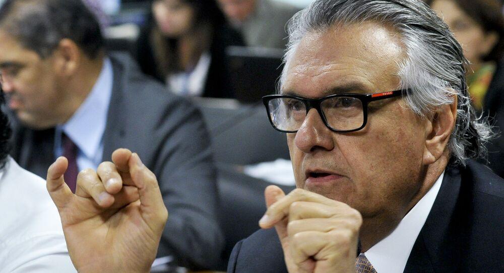 Ronaldo Caiado, líder do DEM no Senado Federal, na Comissão Especial do Impeachment de Dilma Rousseff, em 21/06/2016