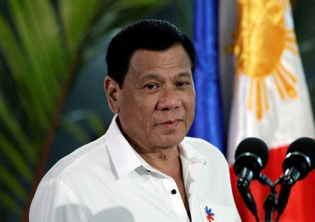 O presidente das Filipinas, Rodrigo Duterte (foto de arquivo)
