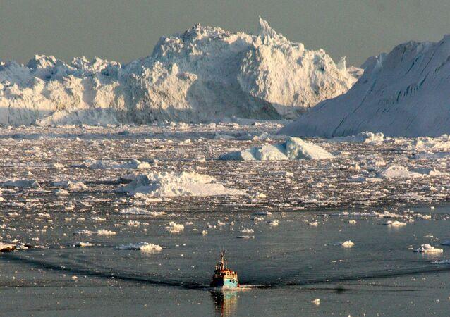 Litoral ocidental da Groenlândia, agosto de 2008