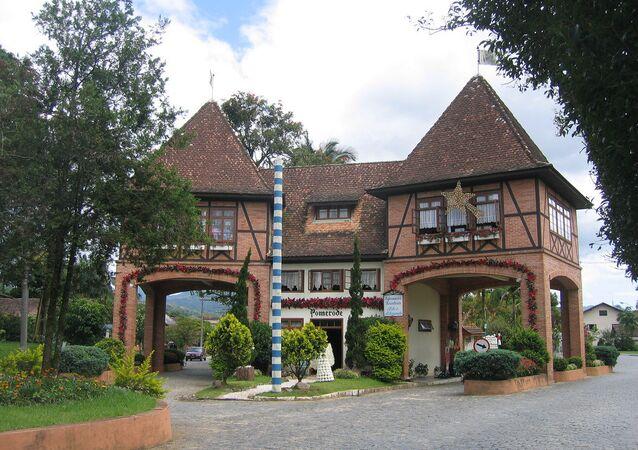 Pomerode, no estado da Santa Catarina, conhecida como a cidade mais alemã no Brasil