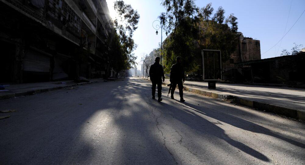 Forças governamentais em Aleppo