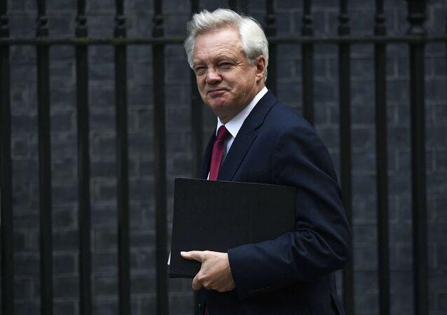 David Davis, secretário britânico de Estado da Saída da União Europeia em Londres, Inglaterra, em 24 de outubro de 2016