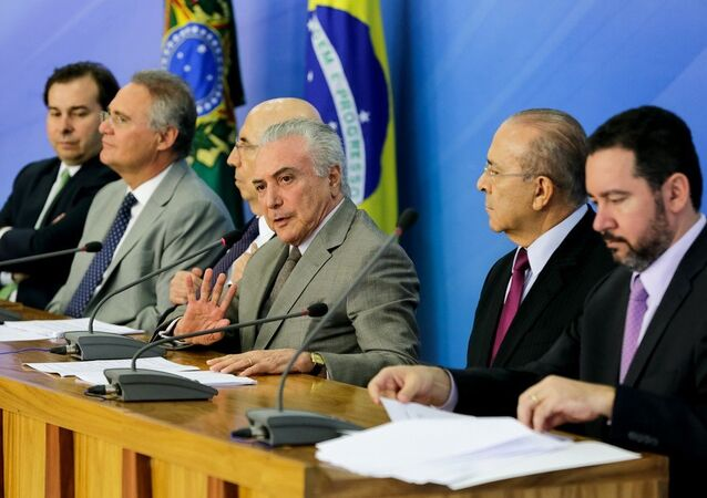 Presidente Michel Temer durante entrevista coletiva para anuncio do pacote de medidas econômicas.