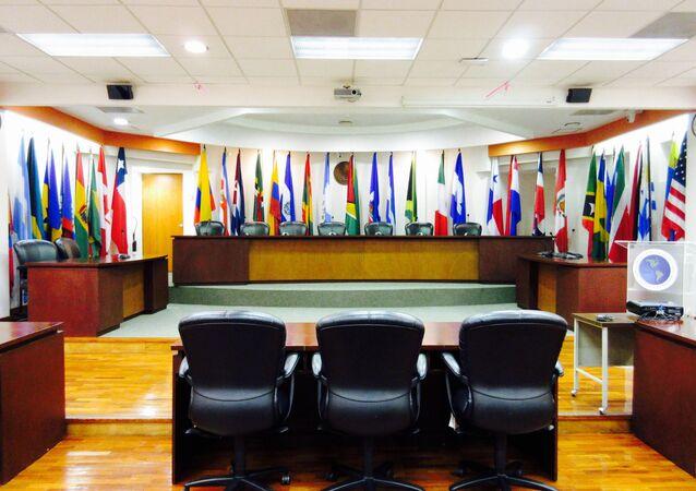 Sala da Corte Interamericana de Direitos Humanos