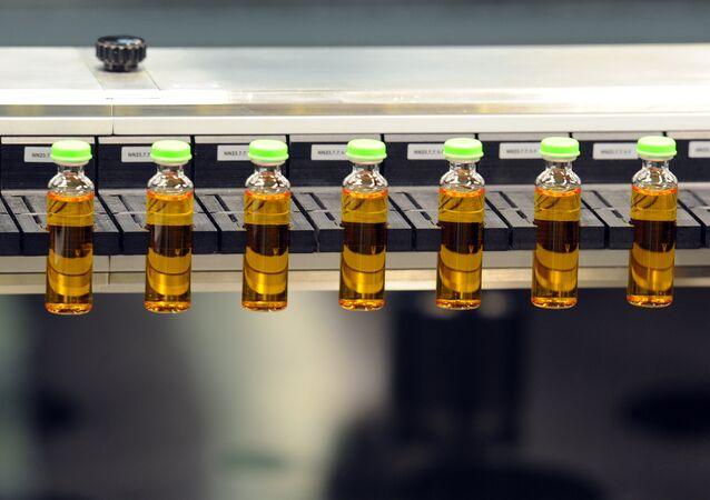 Produção de insulina em uma fábrica da Novo Nordisk
