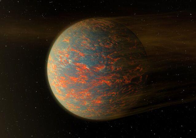 Ilustração mostra como poderia ser exoplaneta 55 Cancri, que é quase duas vezes maior do que a Terra (imagem referencial)
