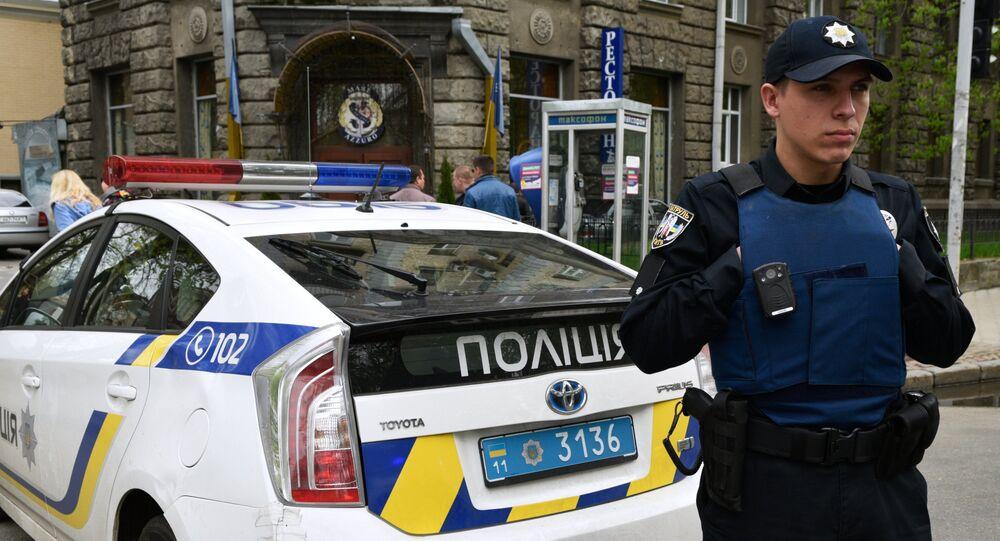Policiais ucranianos em Kiev, Ucrânia (foto de arquivo)