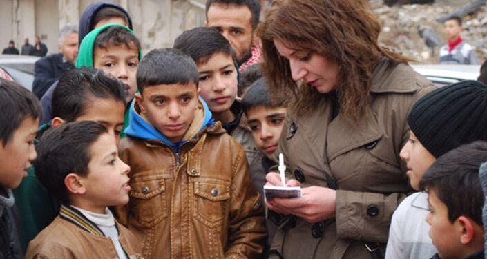 Crianças em Aleppo falam com correspondente da Sputnik