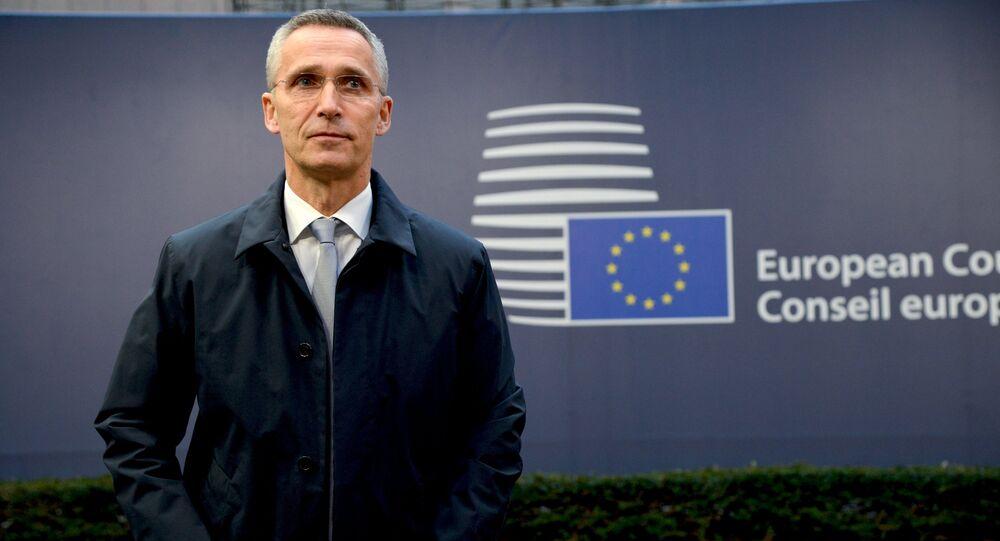 Secretário-geral da OTAN, Jens Stoltenberg, durante cúpula da União Europeia, em Bruxelas (arquivo)