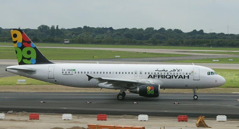 Avião da companhia aérea Afriqiyah Airways