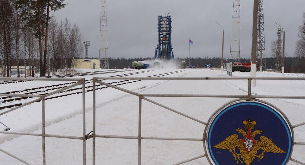 O cosmódromo de Plesetsk na região de Arkhangelsk