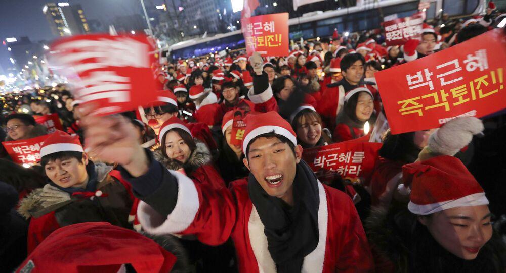 Protesto de Natal na Coreia do Sul