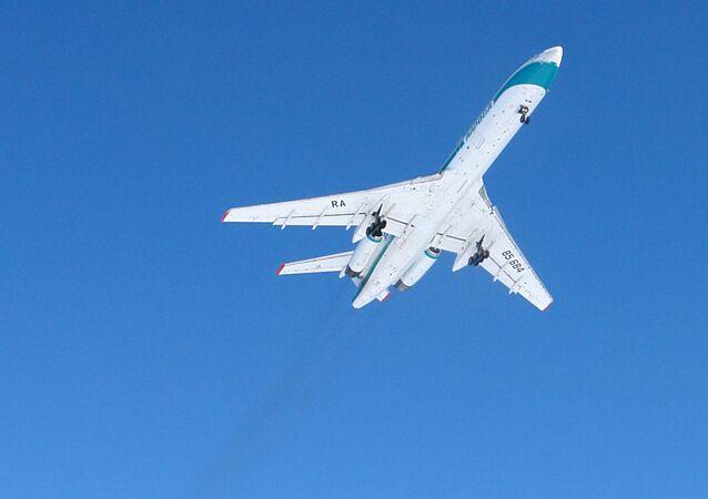Avião Tu-154 (imagem referencial)