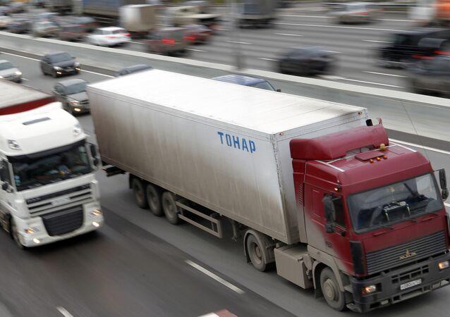 Caminhão em Moscou (arquivo)