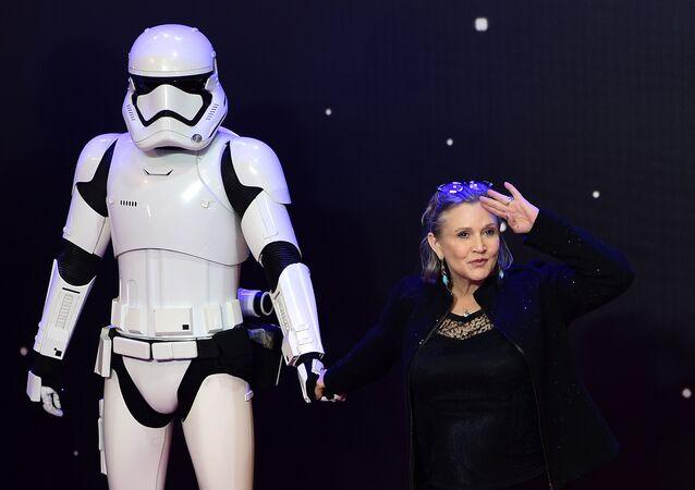 Atriz de Star Wars Carrie Fisher