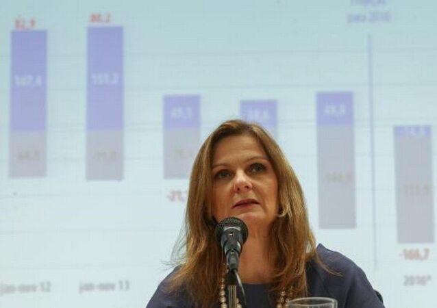 A secretária do Tesouro Nacional, Ana Paula Vescovi, divulga resultado primário do Governo Central no mês de novembro