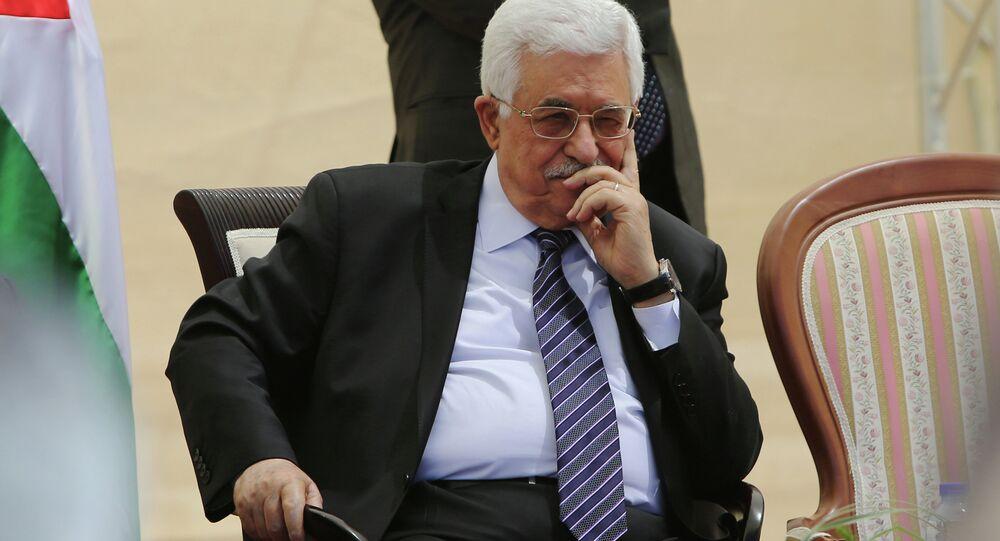 O presidente da Palestina, Mahmoud Abbas