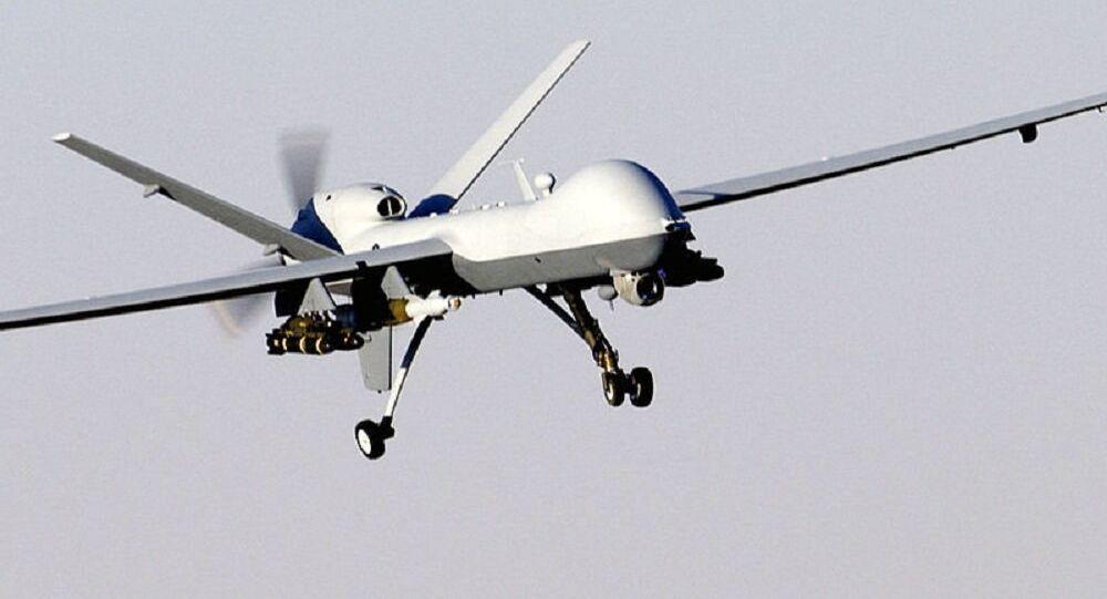 Drone americano MQ-9 Reaper em ação