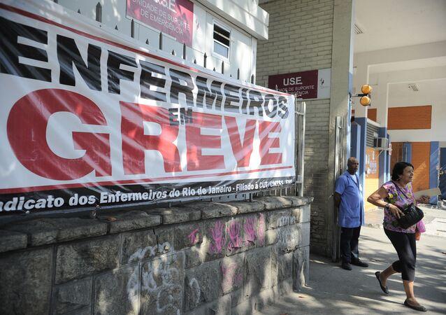Greve servidores da Saúde no Rio