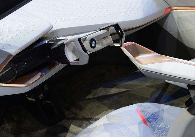 Carro da marca BMW vista na exposição em Munich, Alemanha