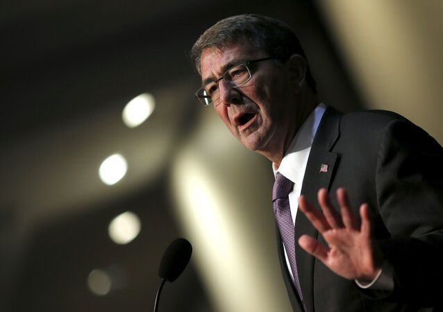 U.S. Defense Secretary Ash Carter delivers remarks at The Association of the United States Army (AUSA) 2015 Annual Meeting and Exposition in Washington October 14, 2015