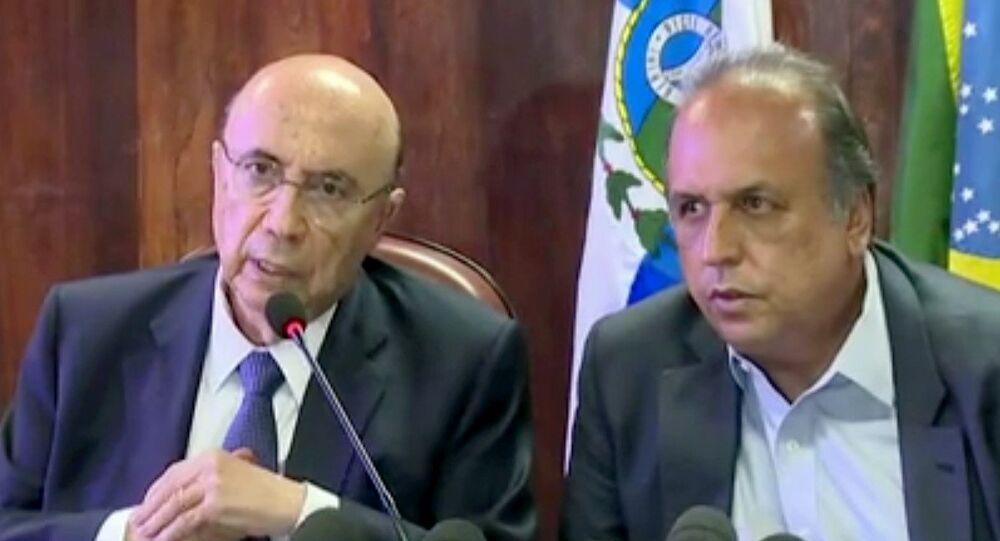 Henrique Meirelles e Pezão prometem plano de recuperação fiscal para quarta (11)