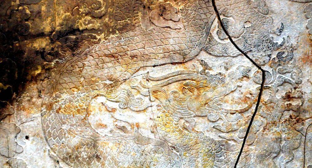 Arte rupestre chinês (foto de arquivo)