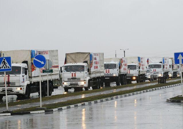 23º comboio de ajuda humanitária russa para Donbass