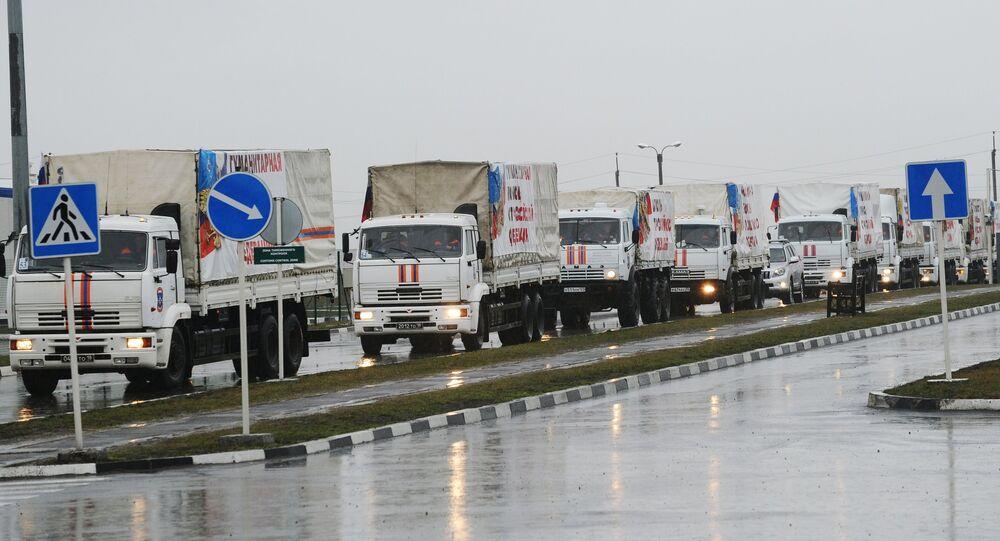 Comboio de ajuda humanitária russa para Donbass