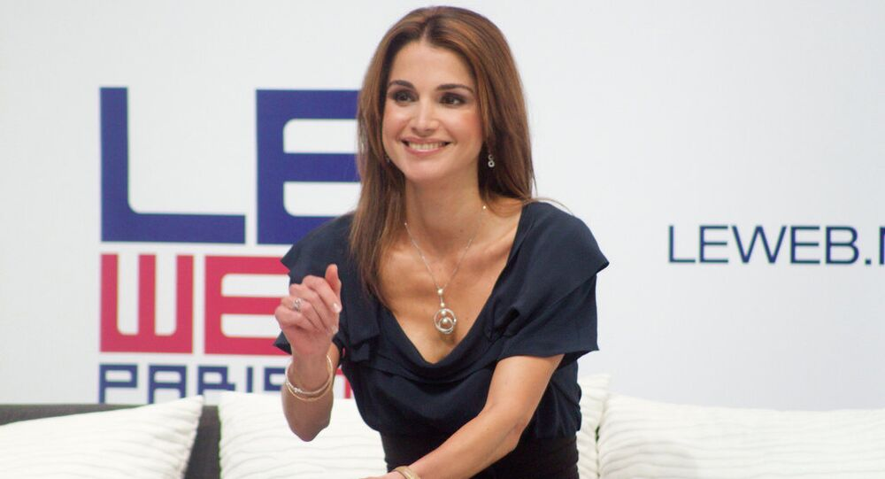 A rainha consorte da Jordânia, Rainha Rania