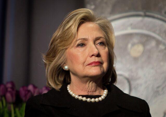 Hillary Clinton, a ex-secretária de Estado norte-americana e candidata à presidência