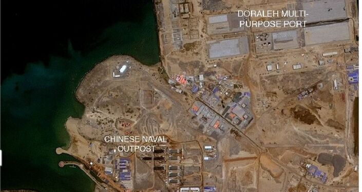 Mapa de Djibouti no local da construção da base militar da China