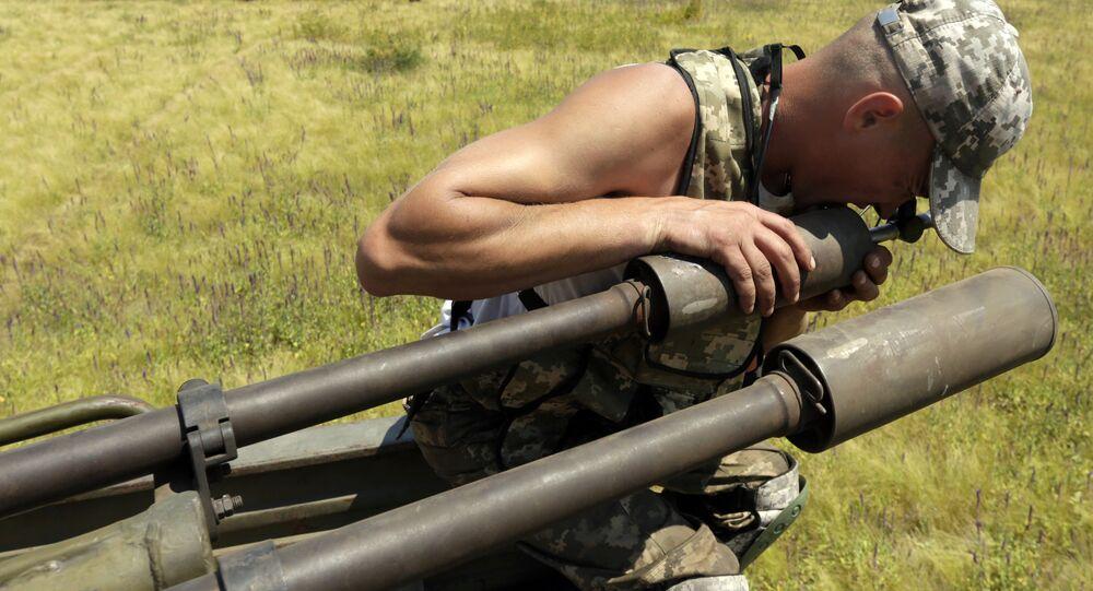 Treinamento das forças da defesa antiaérea ucraniana (arquivo)