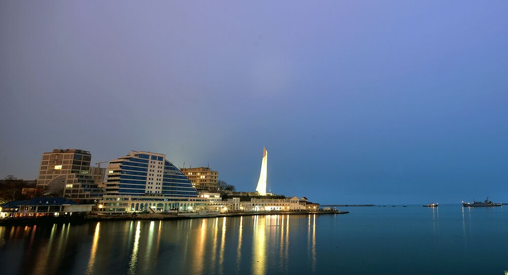 Vista para cidade crimeana de Sevastopol, foto de arquivo de 7 de março de 2014