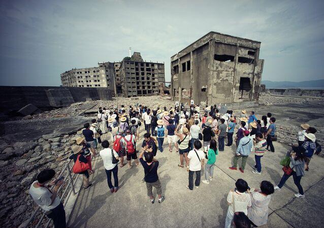 Ilha de Hashima, no Japão.